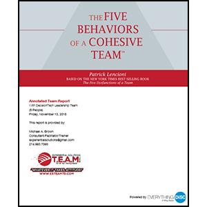 5-Behaviors-Team-Profile